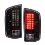 Dodge Ram 2500 2007-2009 LED Tail Lights Black Clear