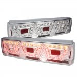 Ford Mustang 1987-1993 LED Tail Lights Chrome Clear
