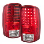 GMC Yukon Denali 2001-2006 Red LED Tail Lights