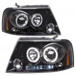 2007 Ford F150 Smoked Halo Projector Headlights with LED