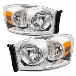 Dodge Ram 2500 2006-2009 Clear Euro Headlights