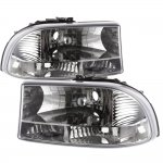 1998 Dodge Durango Chrome Clear One Piece Headlights