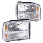 2005 Ford F350 Super Duty Clear Headlights LED DRL