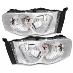 Dodge Ram 2500 2003-2005 Chrome Clear Headlights