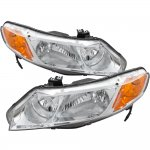 Honda Civic Sedan 2006-2011 Chrome Custom Headlights