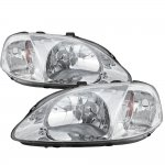 Honda Civic 1999-2000 Clear Crystal Euro Headlights