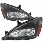 2007 Honda Accord Black Euro Headlights