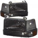 Ford F350 1992-1996 Smoked Headlights and Bumper Lights Set