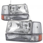 1995 Ford F150 Clear Headlights and Bumper Lights Set