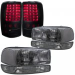 2006 GMC Yukon Smoked Clear Headlights and LED Tail Lights Black Smoked
