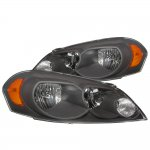 Chevy Monte Carlo 2006-2007 Black Euro Headlights