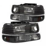 Chevy Suburban 2000-2006 Black Headlights and Bumper Lights