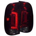 2006 Ford F550 Tinted Custom LED Tail Lights