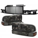 2003 Chevy S10 Black Billet Grille Smoked Headlights Bumper Lights