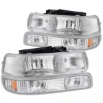 Chevy Suburban 2000-2006 Clear Euro Headlights and Bumper Lights