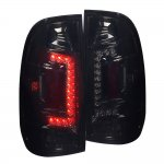 2001 Ford F250 Super Duty Smoked Custom LED Tail Lights