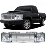 1993 Chevy 3500 Pickup Chrome Billet Grille and Headlight Conversion Kit