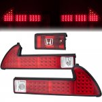 1993 Acura NSX Red and Clear LED Tail Lights