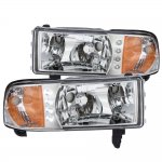 1997 Dodge Ram Chrome Headlights LED DRL