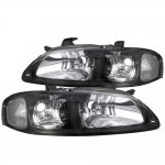 Nissan Sentra 2000-2003 Black Clear Headlights