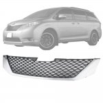 Toyota Sienna 2011-2017 Sport Mesh Front Grille with Chrome Surround