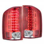 2007 Chevy Silverado LED Tail Lights Red Clear