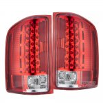 Chevy Silverado 3500HD 2007-2014 LED Tail Lights Red Clear
