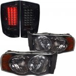2002 Dodge Ram Smoked Headlights and LED Tail Lights