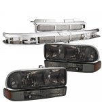 2003 Chevy S10 Chrome Grille and Smoked Headlights Set