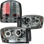 2009 Dodge Ram 2500 Smoked Projector Headlights and LED Tail Lights