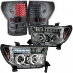 2008 Toyota Tundra Smoked Projector Headlights and LED Tail Lights