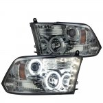 2010 Dodge Ram 2500 Smoked CCFL Halo Projector Headlights LED DRL