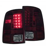 2010 Dodge Ram 3500 Red and Smoked LED Tail Lights