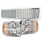 2007 Chevy Silverado Chrome Grille and  Headlight LED DRL