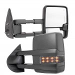 Chevy Silverado 2007-2013 Towing Mirrors Smoked LED DRL Lights Power Heated