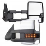 Chevy Suburban 2000-2002 Chrome Towing Mirrors Smoked LED DRL Lights Power Heated