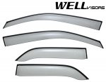 Lexus RX300 1999-2003 Smoked Side Window Vent Visors Deflectors Rain Guard Shade Black Trim
