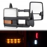 1993 Chevy 3500 Pickup Chrome Power Towing Mirrors LED Signal Lights