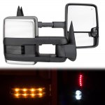 GMC Yukon 1992-1999 Chrome Power Towing Mirrors Smoked LED Signal Lights