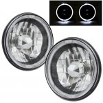 1973 Ford F250 Black Chrome Halo Sealed Beam Headlight Conversion