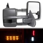 2017 Chevy Silverado Towing Mirrors Smoked LED Lights Power Heated