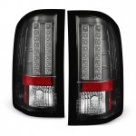 Chevy Silverado 2007-2013 Black LED Tail Lights