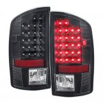 2009 Dodge Ram 2500 Black LED Tail Lights