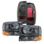 2002 Ford F250 Smoked Headlights and LED Tail Lights