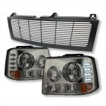 2005 Chevy Suburban Black Grille and Smoked Headlight Conversion Kit