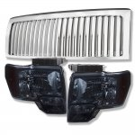 Ford F150 2009-2014 Chrome Vertical Grille