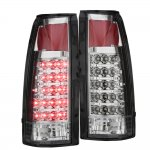GMC Suburban 1992-1999 Chrome LED Tail Lights