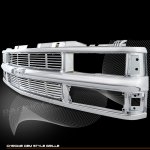 1994 Chevy 1500 Pickup Chrome Replacement Grille with Cross Bar Insert