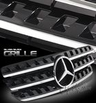 Mercedes Benz M Class 1998-2005 Black Sport Grille with Emblem
