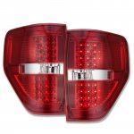 Ford F150 2009-2014 LED Tail Lights Red Clear